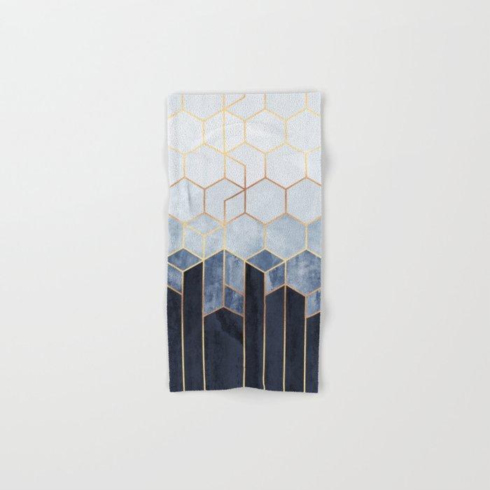 Soft Blue Hexagons Hand & Bath Towel