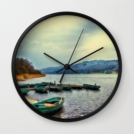 Boats on Esthwaite Wall Clock