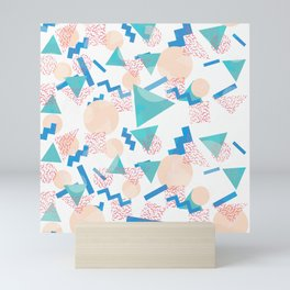 90's Pastel Geometric Pattern Mini Art Print