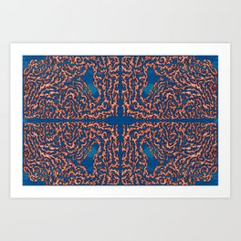 Belief - Symmetrical Abstract Expressionism Art Print