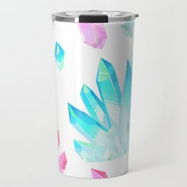 Crystals Illustration Travel Mug