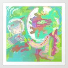 Space Stop Art Print