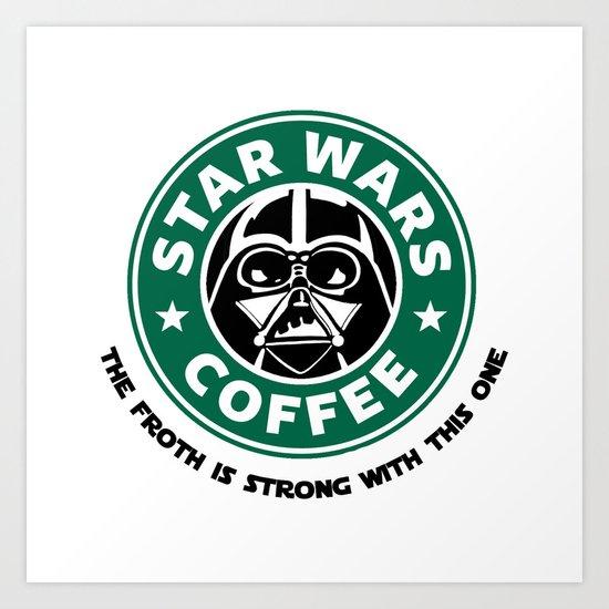 Star Wars Coffee Art Print