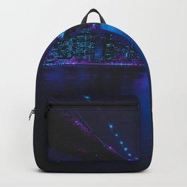 Future Skyline Cyberpunk City Backpack