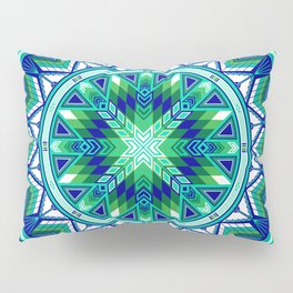Sacred Places Green Pillow Sham