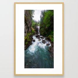 Rosenlaui Waterfall, Rosenlaui, Berner Oberland, Switzerland Framed Art Print