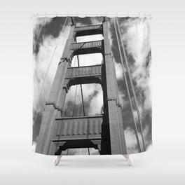 Golden Gate B/W Shower Curtain