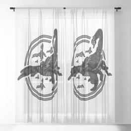 Scorpion GREY 2 Sheer Curtain