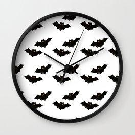 Halloween Flying Bat Wall Clock