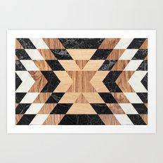 Marble Wood Kilim Art Print