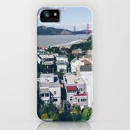 View of The City from above my Friends Apartment iPhone Case