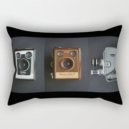 Vintage Camera Triptych Rectangular Pillow