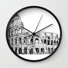COLOSSEUM - ink portrait Wall Clock