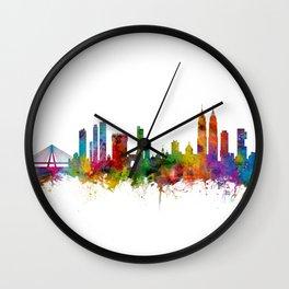 Mumbai Skyline India Bombay Wall Clock