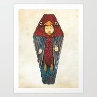 egyptian Art Prints featuring Fly like an egyptian by Juan Weiss