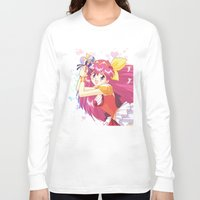 wedding Long Sleeve T-shirts featuring Wedding Peach by Neo Crystal Tokyo