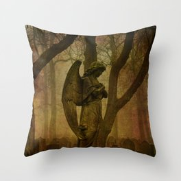 Waiting in Silence - Recoloured Throw Pillow