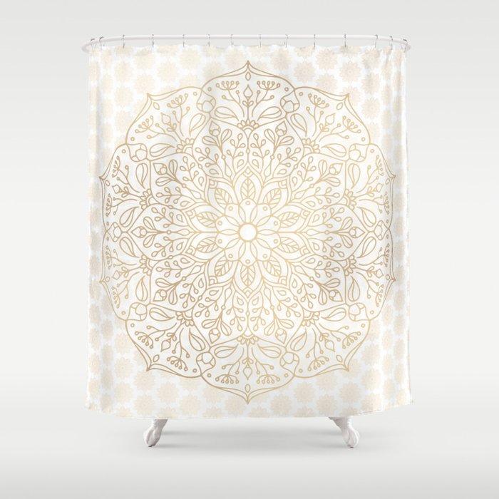 Gold Mandala Shower Curtain