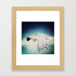 A GENTLE HEART IS TIED WITH AN EASY THREAD Framed Art Print