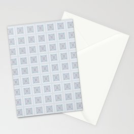Modern Life Pattern Mauve Blue Stationery Cards