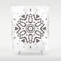 snowflake Shower Curtains featuring Snowflake by itishazel