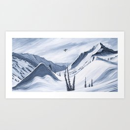 'Chads Gap' Iconic Snowboarding Moments Art Print