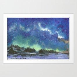 Northern Lights Art Print