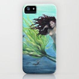 Calypso Nude Mermaid Underwater iPhone Case