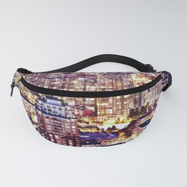 Voyeuristic 1553 Vancouver Cityscape Downtown Yaletown British Columbia Canada Hot Summer Night Fanny Pack