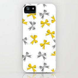 Yellow bow iPhone Case