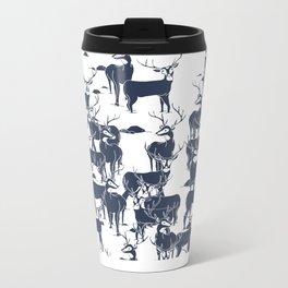 bucks in the snow Metal Travel Mug