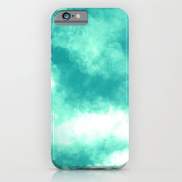 Teal Clouds iPhone Case