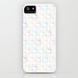 Kawaii Pastel Bunny Bows iPhone Case