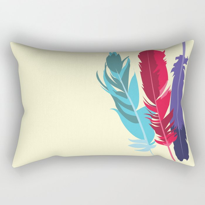 Indie Feathers  Rectangular Pillow