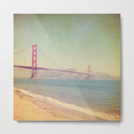 A Golden Day at the Beach Metal Print