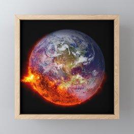 Global Warming Climate Change Framed Mini Art Print