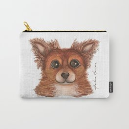 Alvin the Long-haired Chihuahua Carry-All Pouch