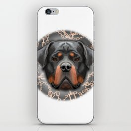Rottweiler Chains, Rottweiler Print, Rottweiler Poster, Rottweiler Gift, Printable Art, Wall Decor iPhone Skin