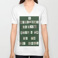 marauders V-neck T-shirts featuring Marauders Map Pledge by Holly Walker