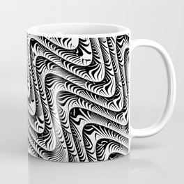 Black and White Serpentine Pattern Coffee Mug