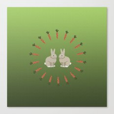 Carrots and Rabbits Canvas Print