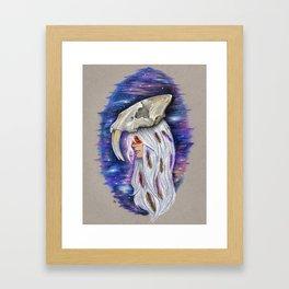 """""""Saber-toothed Princess"""" Framed Art Print"""