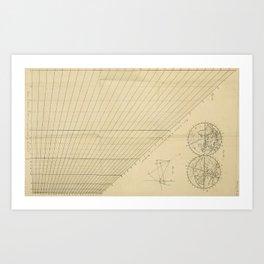 Jérôme Lalande's Astronomie (1771) - Cartographic Calculations Art Print