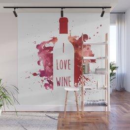 wine bottle Wall Mural