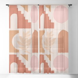Abstraction_SHAPES_Architecture_Minimalism_002 Sheer Curtain