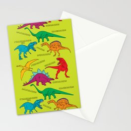 Dinosaur Print - Colors Stationery Cards