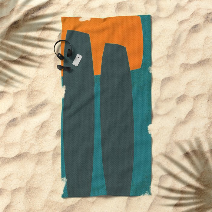 Indigenous Peoples in Easter Island Beach Towel