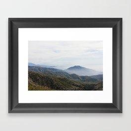 Rim of the World Highway Framed Art Print