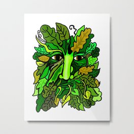 Greenman Metal Print
