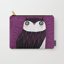BLACK & WHITE OWL Carry-All Pouch
